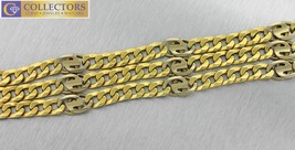 "Men's 24.00"" Italian 14K Yellow Gold Fancy Curb Figaro Link Chain Neckla... - $1,999.95"