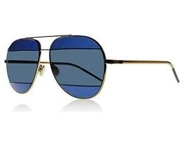 CHRISTIAN DIOR Split 1 Blue Lilac Metal Aviator Sunglasses DIORSPLIT - $495.00