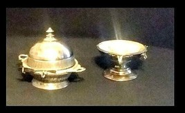 US Silver-Plated Butter Dishes AB 424 Antique image 2