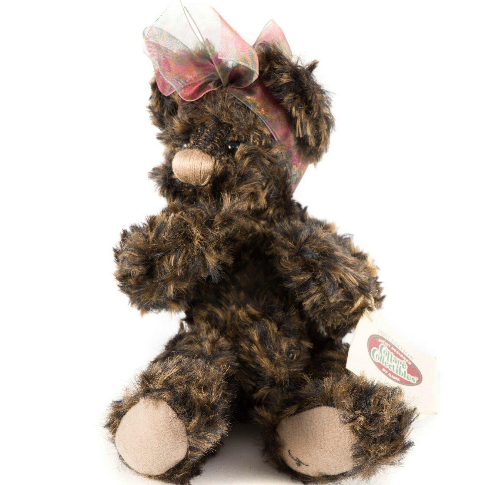 "Ganz Cottage Collectibles Lexi Teddy Bear 11"" First Edition Scarf Tag CC1801"