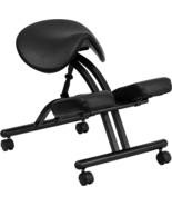 Offex Ergonomic Kneeling Chair with Black Saddle Seat - $160.78