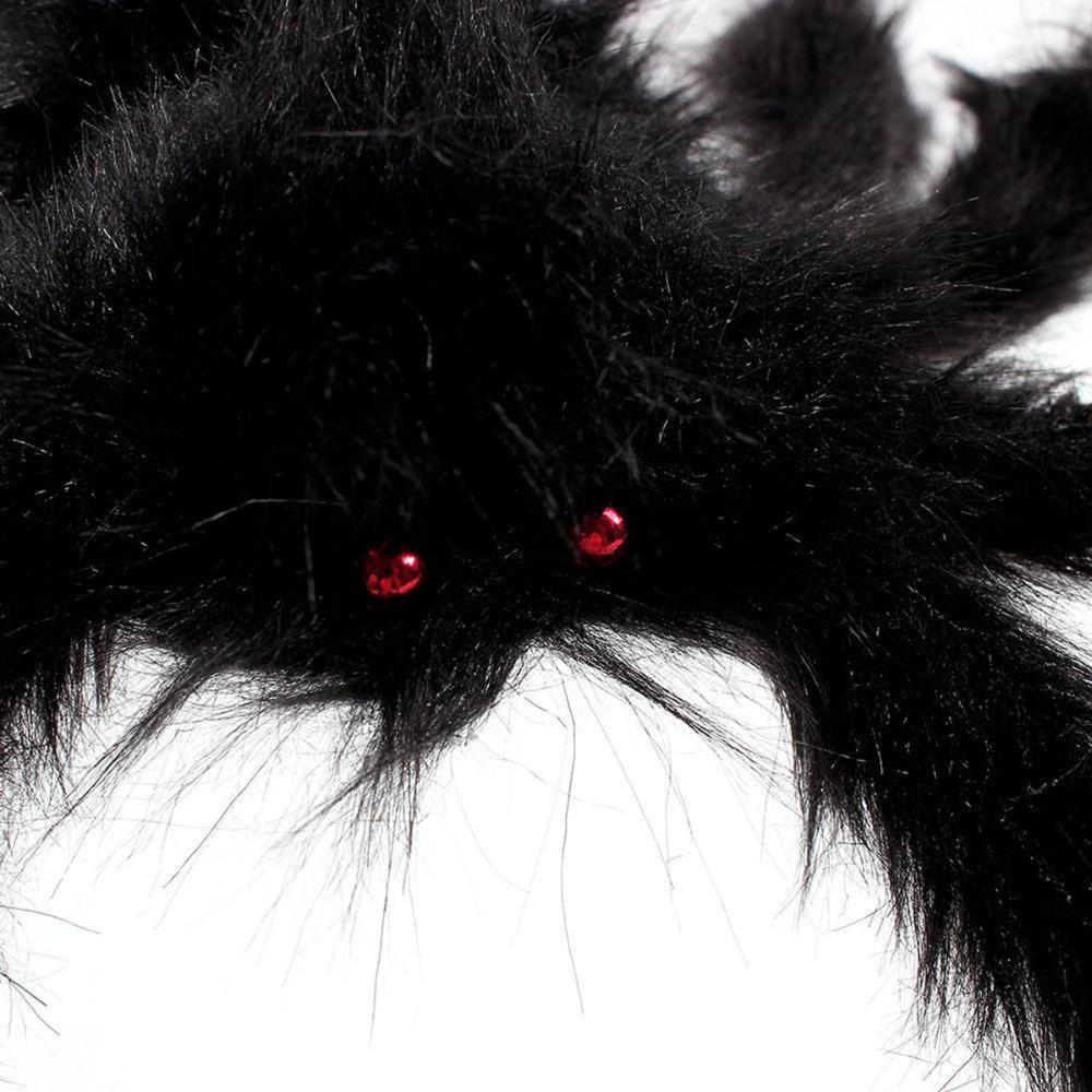 1PCs Fake Spider Prank Gift New Halloween Horrible Big Black Furry Spider Decor image 4
