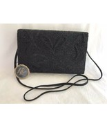 Vintage Black Beaded Purse La Regale with Italian Beads With Tags Should... - $12.38