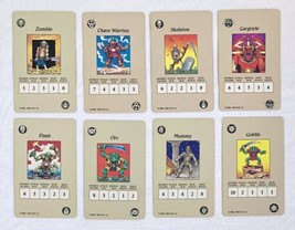 Hero Quest 1990 Wandering Monster Cards Replacements Complete Set of 8 EUC - $9.79