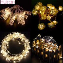 Christmas Led String Plastic Clip Lights Christmas Tree Ornaments Christmas - $2.46+