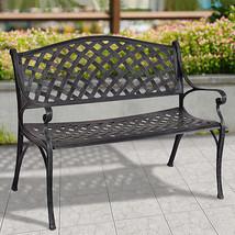 """40"""" Outdoor Antique Garden Bench Aluminum Frame Seats Chair Patio Garden... - $144.98"""