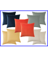 "100% Lush Cotton Velvet- Pillow Case Cushion Covers 20"" x 20"" with Zip -2pcs NEW - $33.19"