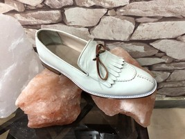 Men's White ankle Leather Shoes, Handmade Dress Formal Shoes - $139.00 - $179.97