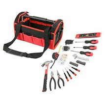 Olympia Tools 83-142 Red & Black Tool Bag Set 56 Piece - $35.81