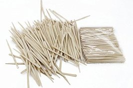Fyess 500Pcs Small Wax Applicator Sticks Wood Spatulas Applicator for Hair Eyebr image 5