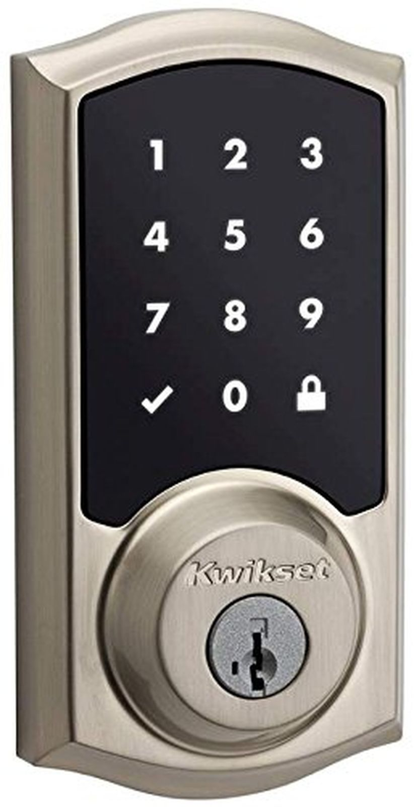 Kwikset 99150-002 SmartCode 915 Touchscreen Electronic UL Deadbolt with Smart...