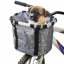 Hamiledyi Bike Basket for Dogs- Perfect Removable Puppy Bycicle Front Ba... - $18.95