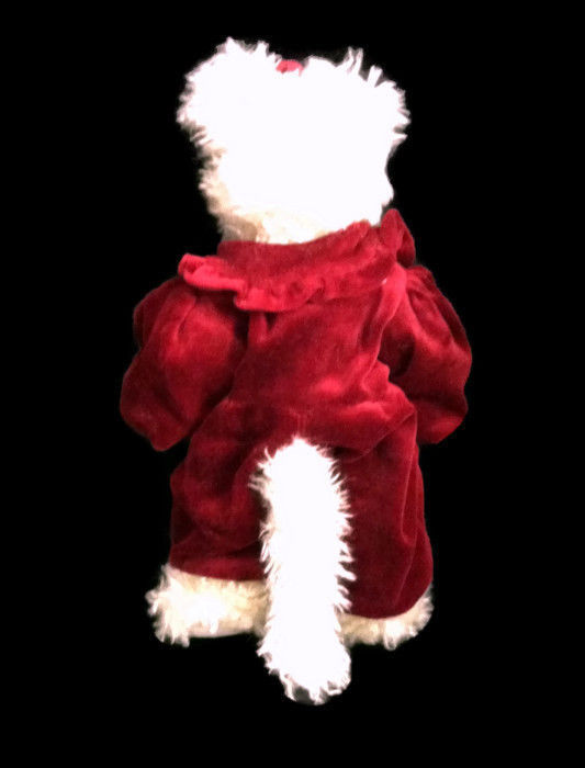 """Boyds Bears Lindsey P Pussytoes 12"""" Retired White Chenille Bear #912091"""