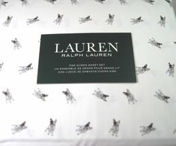 Lauren 4 Piece Queen Size Sheet Set Boston Terrier Dogs 100% Cotton - $92.54