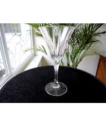 Royal Crystal Rock Novecento Pattern Clear Wine Glass Retired - $18.80