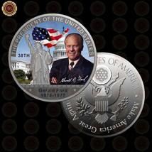 WR 38th U.S President Gerald R. Ford Colorized Silver Coins Rare America... - $6.67