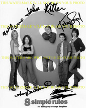 An item in the Entertainment Memorabilia category: 8 SIMPLE RULES CAST AUTOGRAPH 8X10 RP PHOTO JOHN RITTER KALEY CUOCO KATEY SAGAL
