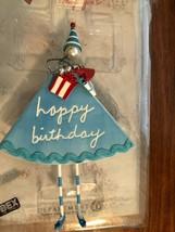 Dept 56 Sandra Magsamen Gal Happy Birthday Wall Hanger, New in Box - $14.99