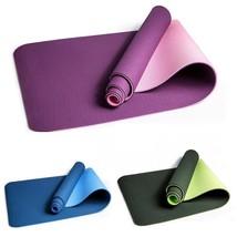 TPE Non-slip Yoga Mats  Fitness Slim Gym Exercise Mats  Sport Pads 183*61cm - £33.42 GBP
