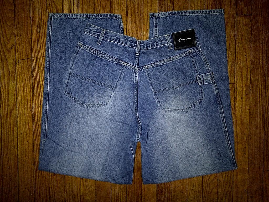 Sean John Signature SJC Hip Hop Urban Carpenter Light Blue Denim Jeans Pants 36