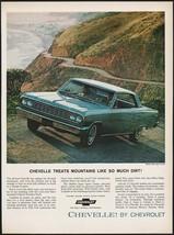 Vintage magazine ad CHEVELLE by Chevrolet 1964 blue Malibu Super Sport Coupe pic - $11.69