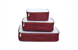 Samantha Brown 3pc Packing Cubes, Burgundy - £24.80 GBP