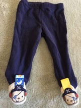 Taggies Boys Blue Puppy Pirates Footed Pants 6 Months - $4.50