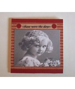 Gift Card Holder with Vellum Envelope Those Were The Days  - $3.49