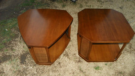Pair of Walnut Danish End Tables Side Tables  (T44) - $499.00