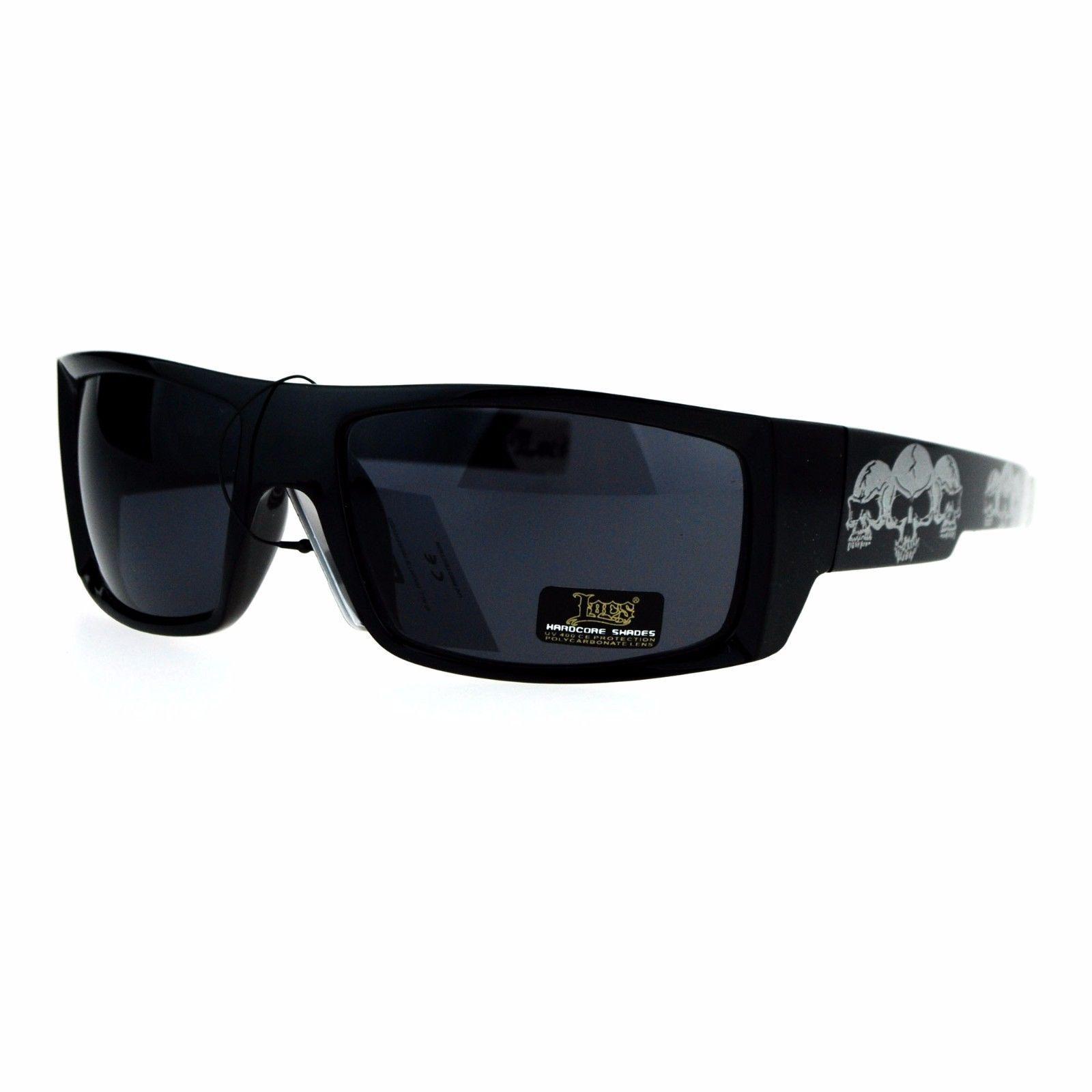 fe86274e29b Mens Locs Sunglasses Black Rectangular Metal and 43 similar items