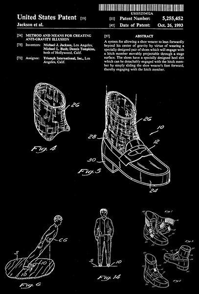 Primary image for 1993 - Anti-Gravity Illusion - Michael Jackson - Patent Art Poster