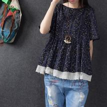 2018 Summer ZANZEA Women O Neck Short Sleeve Floral Print Lace Crochet B... - $31.29