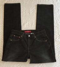 LEVI'S 505 Women's Straight Leg Distressed Black Jeans Size 6 Mis M (30 x 32) - $14.95
