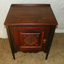 Walnut Carved Cabinet / Nightstand  (DR6) - $399.00