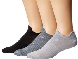 New Balance Flach Gestrickt Doppel Tab No-Show Größe GRÖSSE M Sport Socken 3