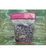 PONY BEADS MADE IN U.S.A. 6X9MM 150 PIECES PLASTIC OPAQUE GREY - $1.98