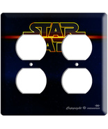NEW STAR WARS LOGO EMBLEM SIGN OUTLET COVER WALL PLATE - $11.99