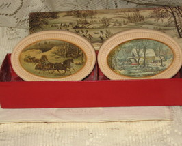 Avon-Winterscapes 1876-Currier & Ives- Boxed Set of 2 Soaps- 1976 - $8.00