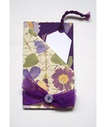 Gift Card Holder With Envelope Handmade New Purple - $2.00