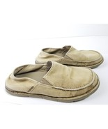 Croc Mens Size 7 Beige Canvas Slip on Loafer Boat Shoes Khaki Casual - $11.30