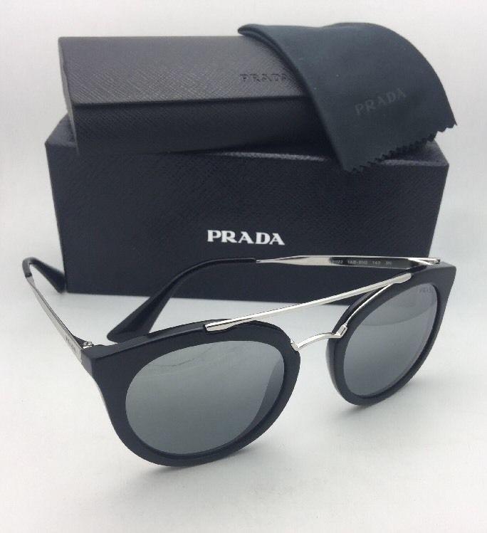 14ae700bfd2a New PRADA Sunglasses SPR 23S 1AB-6N2 52-22 Black   Silver Frame w