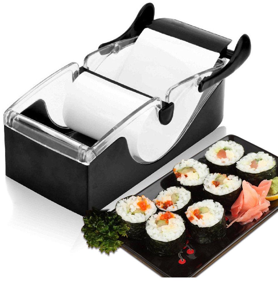 Set Sushi Roll Magic Making Machine Kitchen Gadget Maker DIY Mold Perfect Cutter