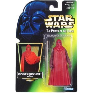 Star Wars POTF Emperor's Royal Guard action figure (green holo card)
