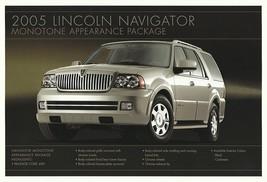 2005 Lincoln NAVIGATOR MONOTONE PACKAGE sales brochure sheet US 05 - $8.00
