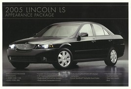 2005 Lincoln LS APPEARANCE PACKAGE sales brochure sheet US 05 - $8.00