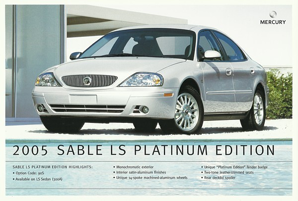 2005 Mercury SABLE LS PLATINUM EDITION sales brochure sheet US 05