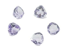 exquisite Amethyst Faceted Heart 7X7 mm Loose Gemstones - $2.92