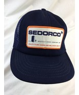 Sedorco  Seattle Door Company Vintage Made in USA Snapback Adult Cap Hat - $18.69