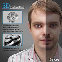 HATTEKER Electric Shaver Rotary Razor Men Cordless Beard trimmer Pop-trimmer Wet image 4