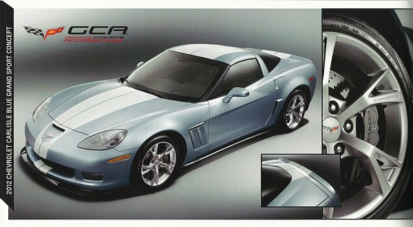 Primary image for 2012 Chevrolet CORVETTE CARLISLE BLUE GRAND SPORT CONCEPT brochure sheet US